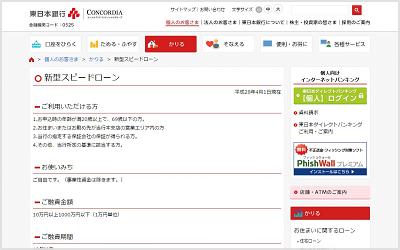 東日本銀行「新型スピードローン」