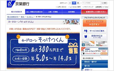 京葉銀行カードローン